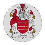 Escudo de la familia del canal inclinado juego de fichas de póquer