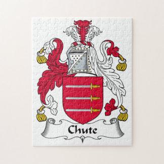 Escudo de la familia del canal inclinado puzzle