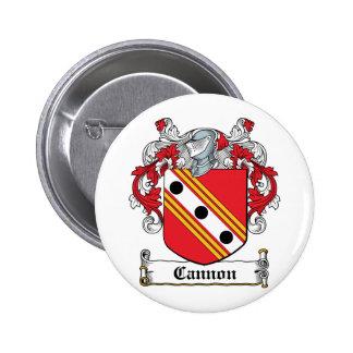 Escudo de la familia del cañón pin redondo de 2 pulgadas