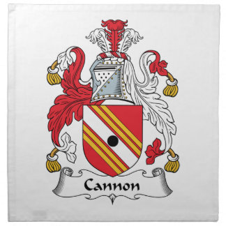 Escudo de la familia del cañón servilleta de papel