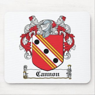 Escudo de la familia del cañón tapete de ratones