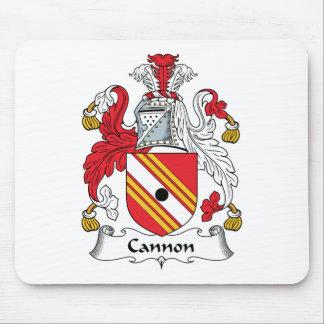 Escudo de la familia del cañón tapetes de ratones