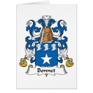 Escudo de la familia del capo tarjeta de felicitación
