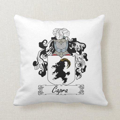 Escudo de la familia del Capra Cojines