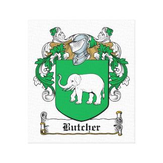 Escudo de la familia del carnicero lona estirada galerías