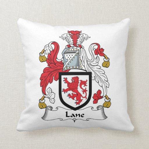 Escudo de la familia del carril almohadas