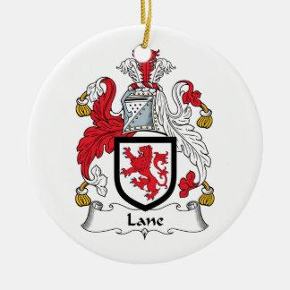 Escudo de la familia del carril adorno redondo de cerámica