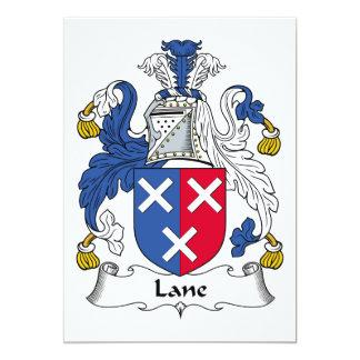 Escudo de la familia del carril invitacion personalizada