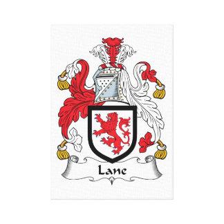 Escudo de la familia del carril lona envuelta para galerias