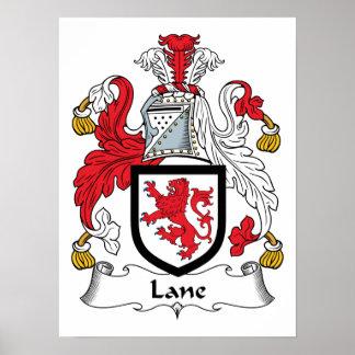 Escudo de la familia del carril póster