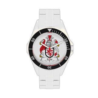 Escudo de la familia del carril relojes de pulsera