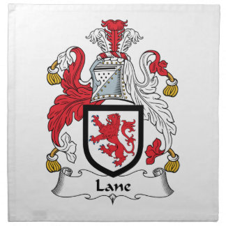 Escudo de la familia del carril servilleta imprimida