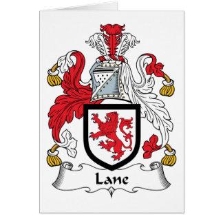Escudo de la familia del carril tarjeta de felicitación