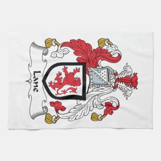 Escudo de la familia del carril toallas