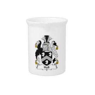 Escudo de la familia del casco jarras para bebida