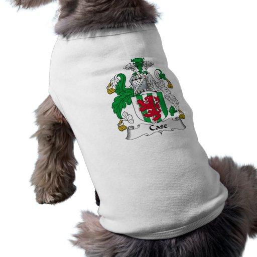 Escudo de la familia del caso ropa para mascota