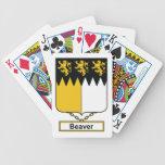Escudo de la familia del castor cartas de juego