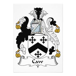 Escudo de la familia del Caw Invitación
