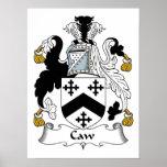 Escudo de la familia del Caw Posters