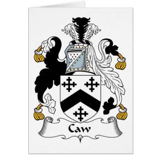 Escudo de la familia del Caw Tarjetas