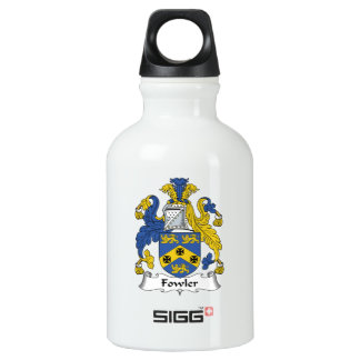 Escudo de la familia del cazador de aves botella de agua