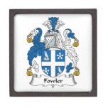 Escudo de la familia del cazador de aves cajas de regalo de calidad