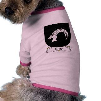Escudo de la familia del ccsme camisa de perro