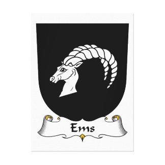 Escudo de la familia del ccsme impresión de lienzo