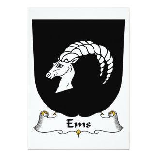 Escudo de la familia del ccsme invitación personalizada