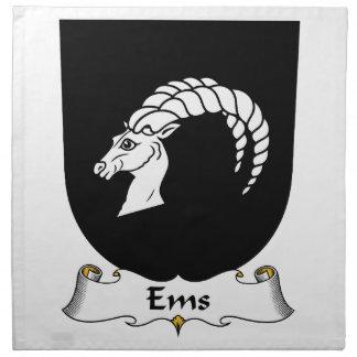 Escudo de la familia del ccsme servilletas