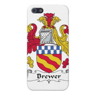 Escudo de la familia del cervecero iPhone 5 funda