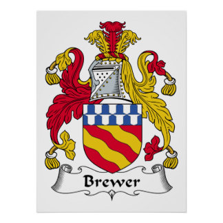 Escudo de la familia del cervecero póster