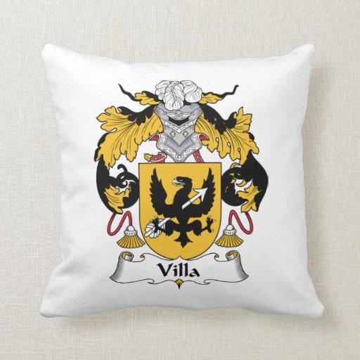 Escudo de la familia del chalet almohada