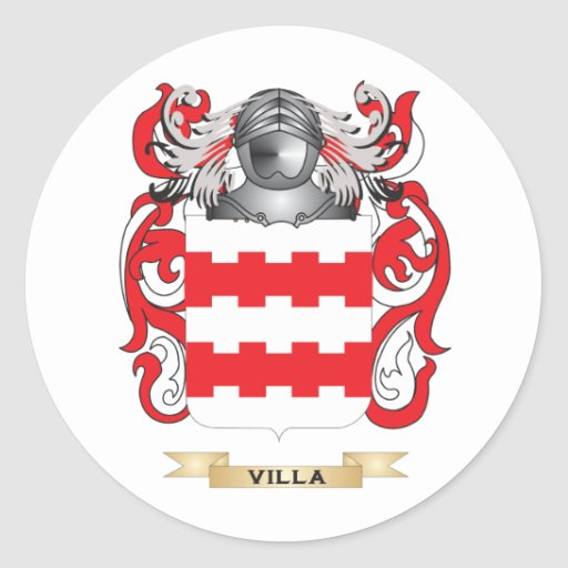 Escudo de la familia del chalet (escudo de armas) pegatinas redondas