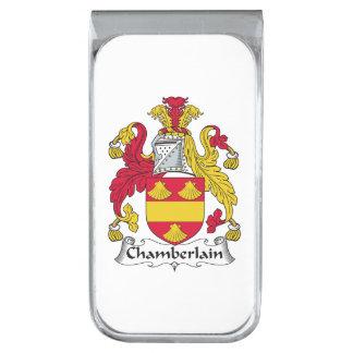 Escudo de la familia del chambelán clip para billetes plateado