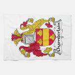 Escudo de la familia del chambelán toallas de cocina