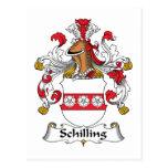 Escudo de la familia del chelín postales