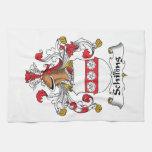 Escudo de la familia del chelín toalla