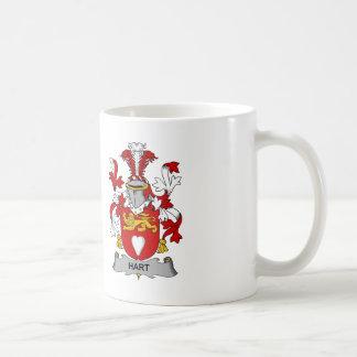 Escudo de la familia del ciervo taza de café