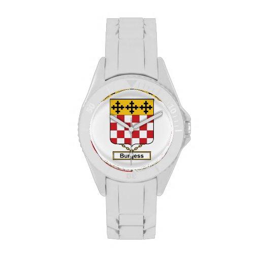 Escudo de la familia del ciudadano relojes
