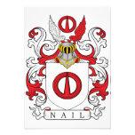 Escudo de la familia del clavo comunicados personalizados