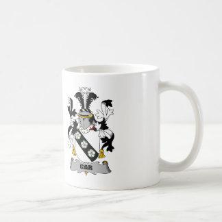 Escudo de la familia del coche tazas de café