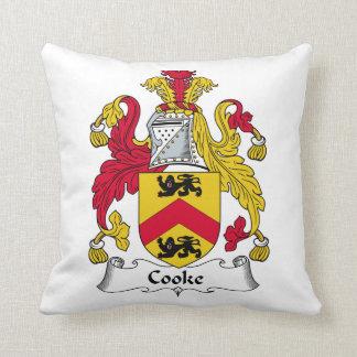 Escudo de la familia del cocinero almohadas