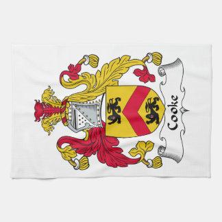 Escudo de la familia del cocinero toallas