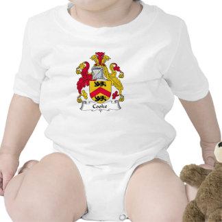 Escudo de la familia del cocinero traje de bebé