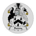 Escudo de la familia del conejito fichas de póquer