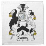 Escudo de la familia del conejito servilleta de papel