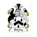 Escudo de la familia del conejito tarjetas postales