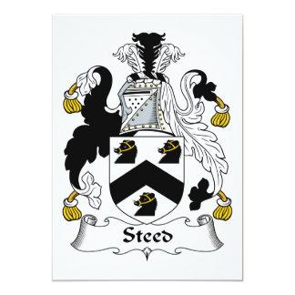 Escudo de la familia del corcel invitación 12,7 x 17,8 cm
