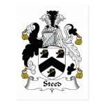 Escudo de la familia del corcel postales